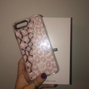 iPhone 8 Plus Casetify Pink Cheetah Phone Case